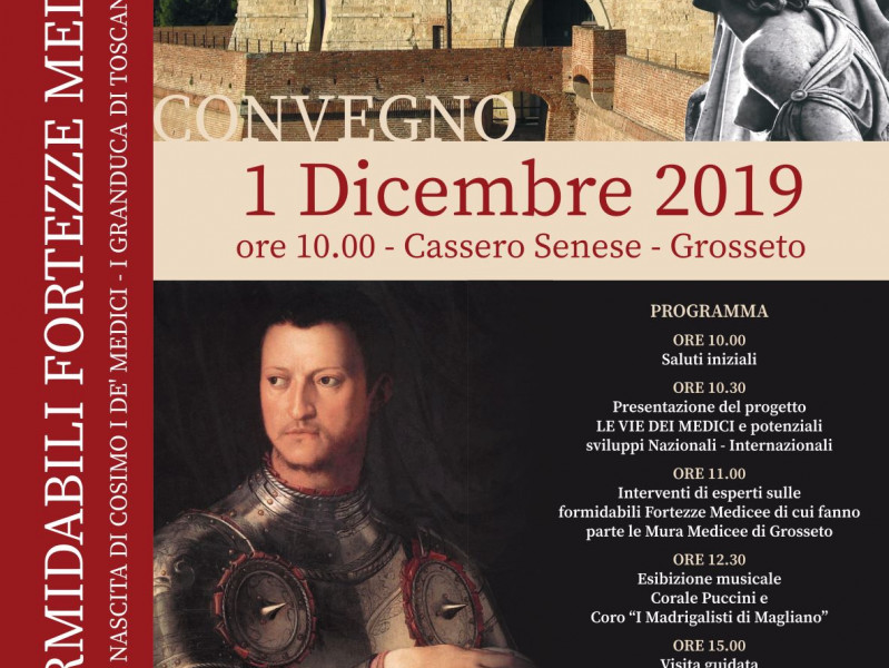 The amazing Medici's Fortresses: Convention at  Grosseto's Cassero Senese
