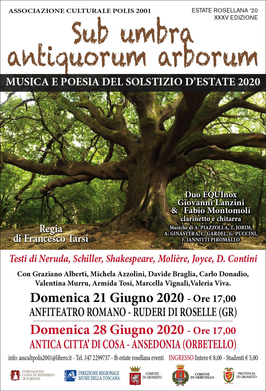 Qui Maremma Toscana - Sub umbra antiquorum arborum: musica e ...